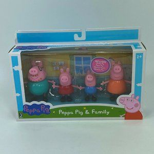 Peppa Pig & Family Figures Playset NEW